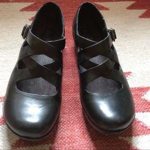 Korkease black Mary Jane shoes
